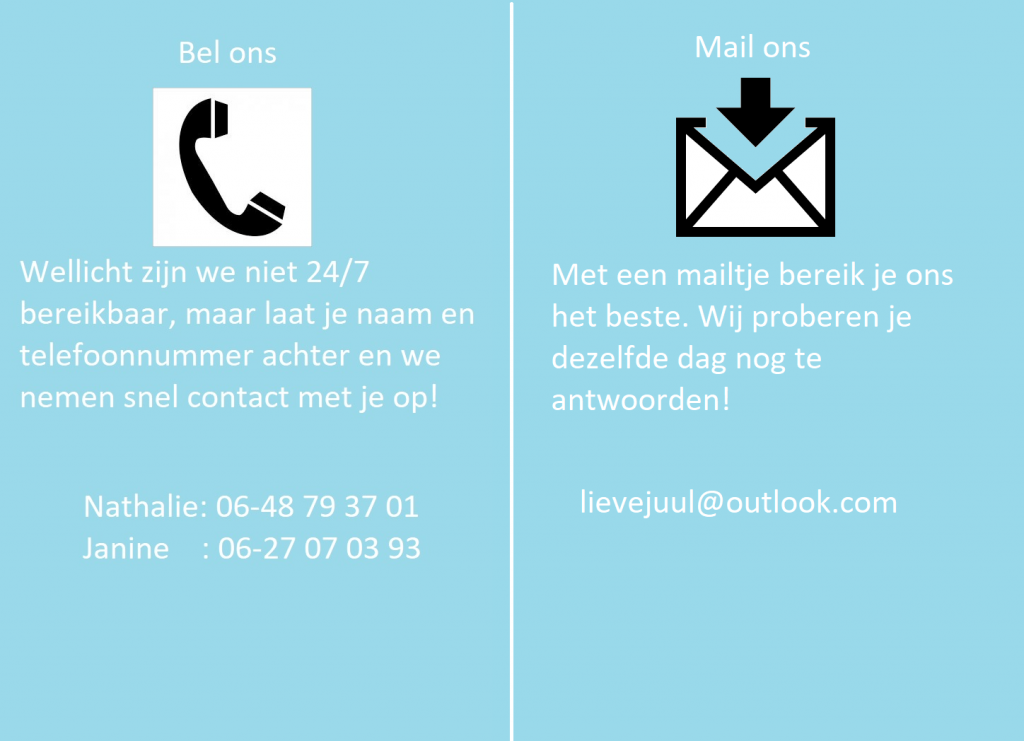contact, bel of mail ons